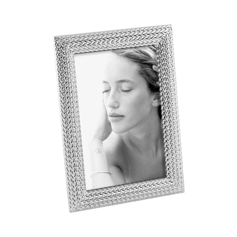 FOTORÁMIK A690 TRICOT 13x18 silver plated
