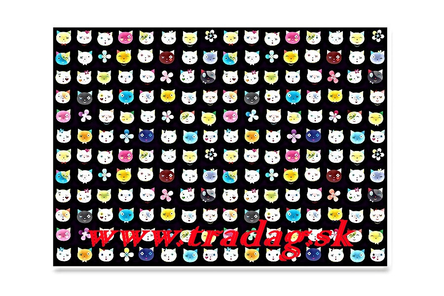 Gift paper Cats black 50x70cm
