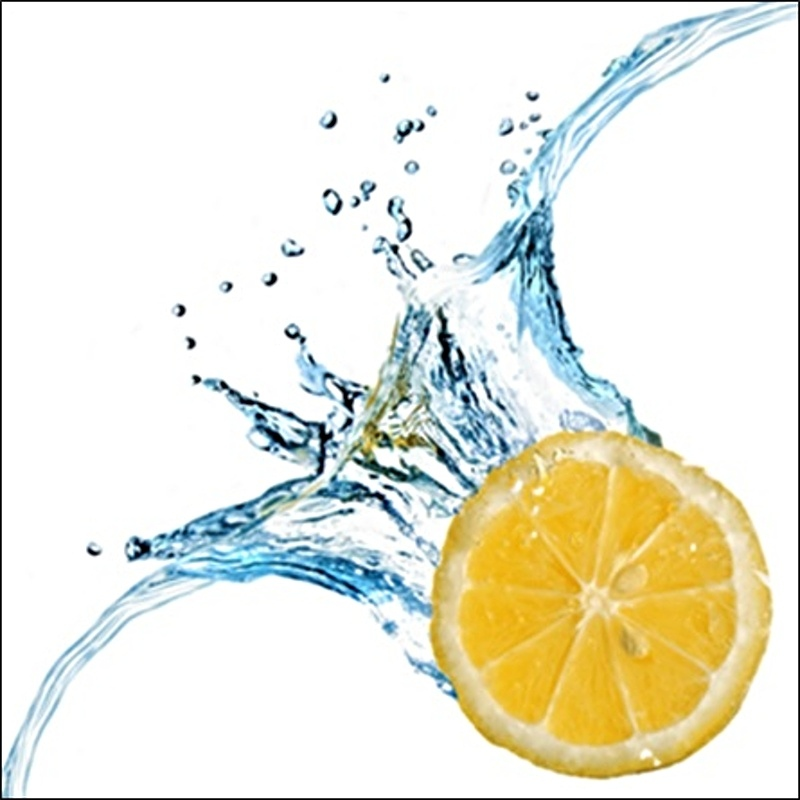 CANVAS WATER LEMON 50x50