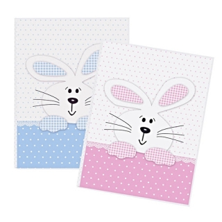 BUNNY PINK&BLUE MIX T32  10x15